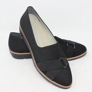 Aerosoles Side View Black Fabric Stretch Shoes